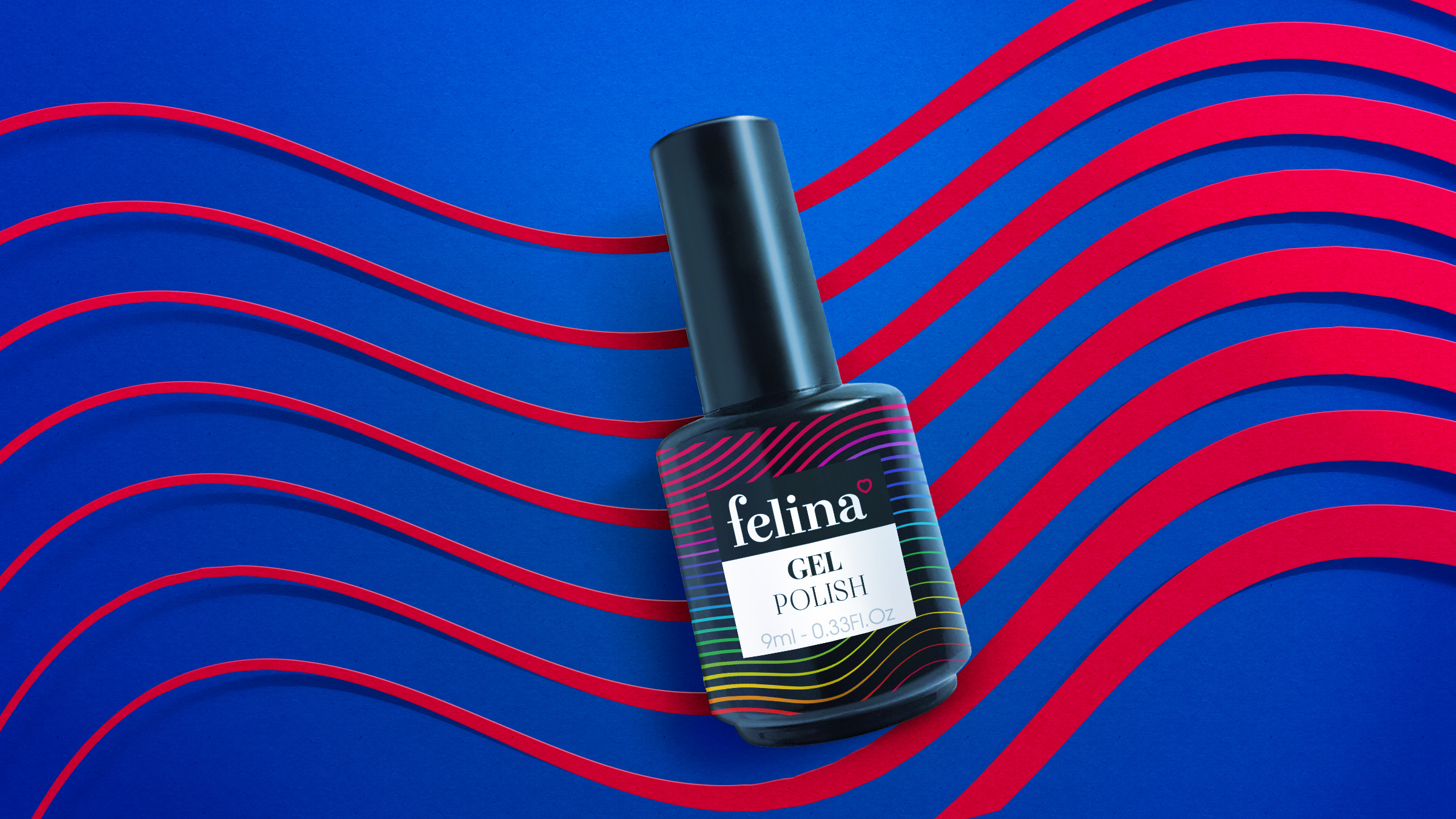 trendy packaging design Felina Nail Art