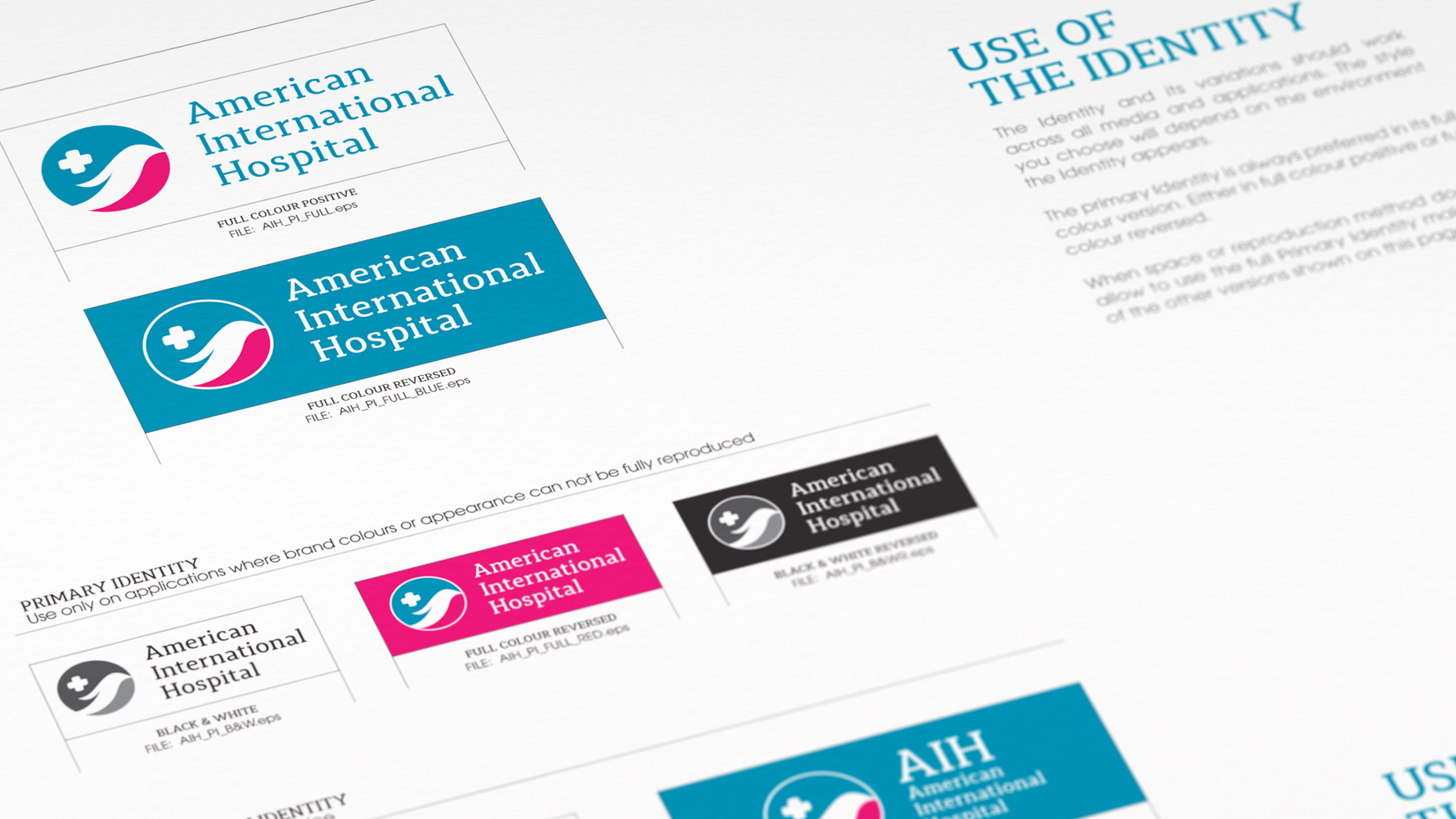 Brand Guideline American International Hospital The Circle branding Partners