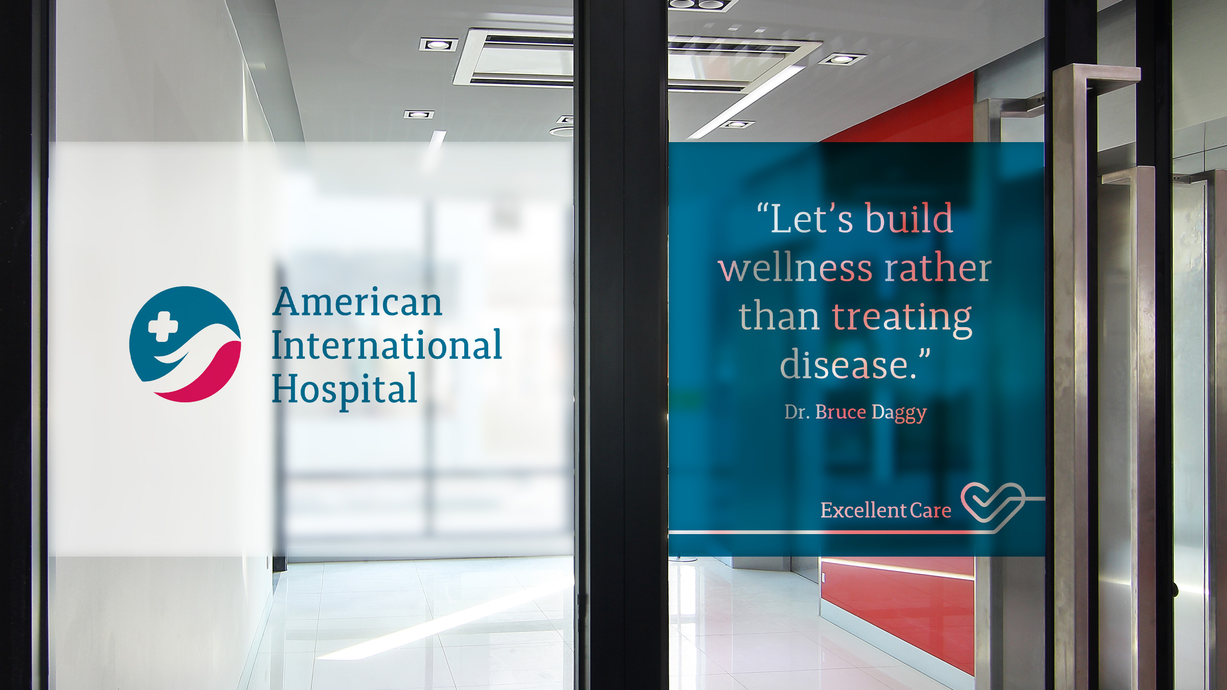 Interior Branding American International Hospital The Circle branding Partners