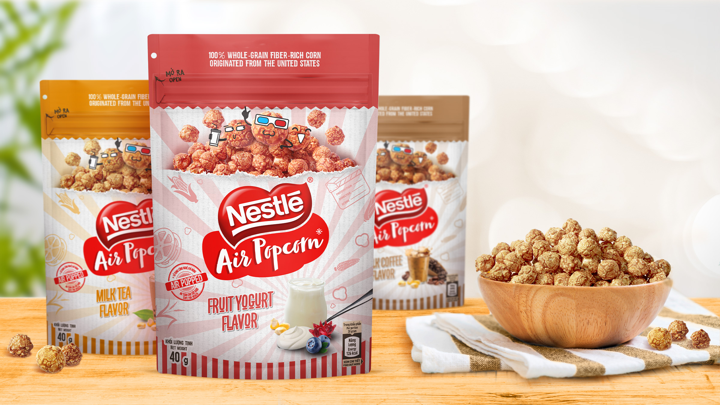 The Circle Branding Partners Nestle Air Popcorn Packaging Design