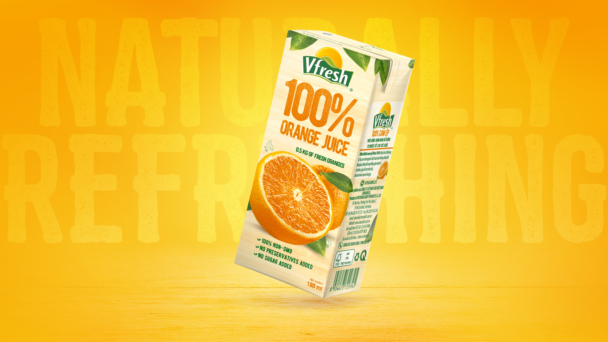 Orange Juice Packaging Design Circle Branding Vietnam